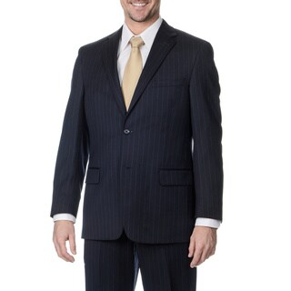 Palm Beach Men's Big and Tall 2-button Navy Stripe Suit Jacket