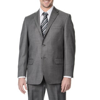 Palm Beach Men's Big and Tall 2-button Sharkskin Double Vent Suit Jacket