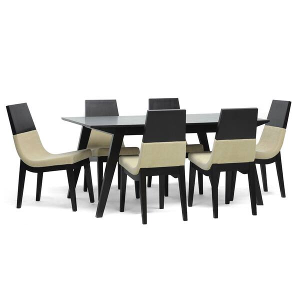 Terrific Baxton Studio Prezna 7 Piece Wenge Modern Dining Set With Two Bonus Dining Chairs Forskolin Free Trial Chair Design Images Forskolin Free Trialorg