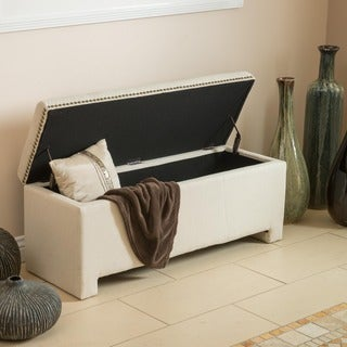 Norfolk Ivory Storage Bench by Christopher Knight Home