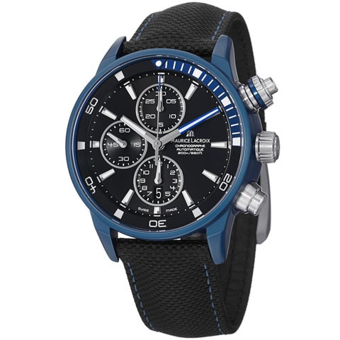 Maurice Lacriox Men's 'Pontos Extreme' Black Dial Chronograph Watch
