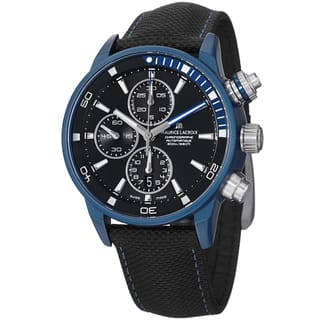 Maurice Lacriox Men's PT6028-ALB11-331 'Pontos Extreme' Black Dial Chronograph Watch|https://ak1.ostkcdn.com/images/products/8915232/P16132747.jpg?impolicy=medium