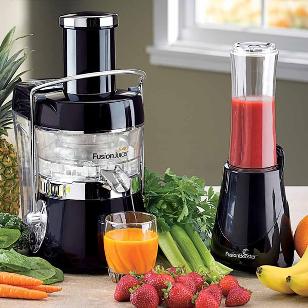 Vitapro Low Speed Juicer Review : Fusion Juicer with Booster Blender and Book Bundle - Black - Free Shipping Today - Overstock.com ...