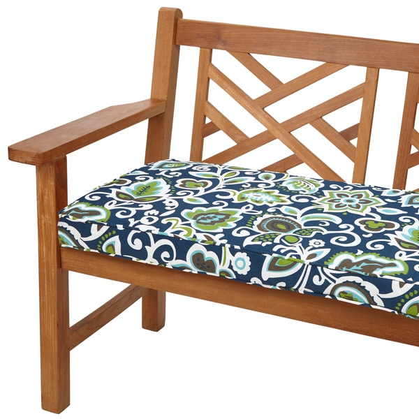 Havenside Home Butler Fl Navy 60 Inch Indoor Outdoor Corded Bench Cushion Free Shipping Today 8915270