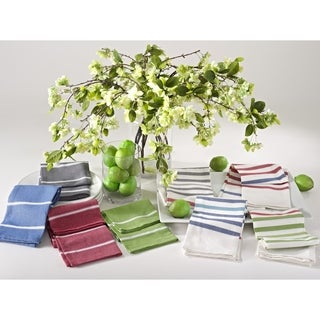 Striped 100-Percent Cotton Kitchen Towel or Napkin