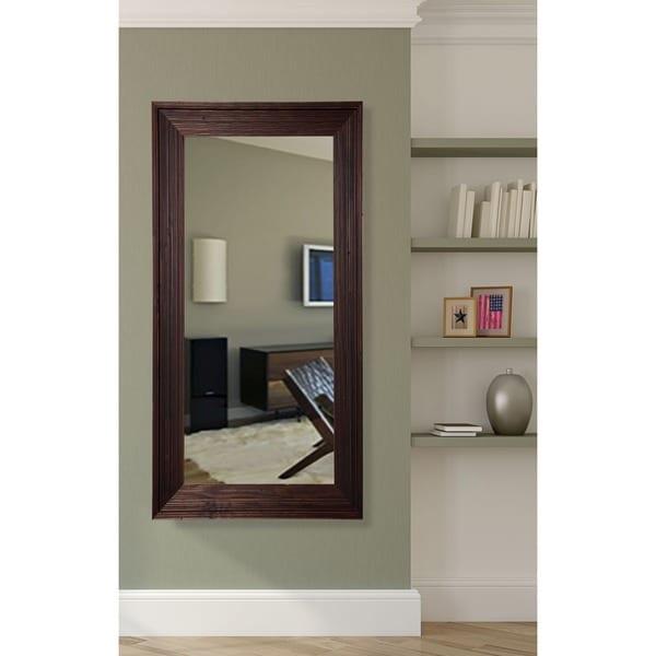 Tall Wall Mirror american made rayne brown barnwood tall wall/ vanity mirror - free
