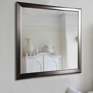 American Made Rayne Sleek Stainless Silver Wall/ Vanity Mirror