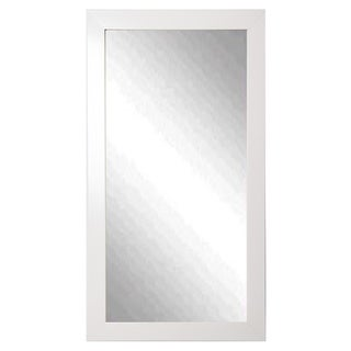 American Made Rayne Glossy White Tall Floor/ Vanity Mirror