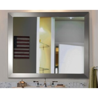 American Made Rayne Modern Stainless Silver Wall/ Vanity Mirror (5 options available)