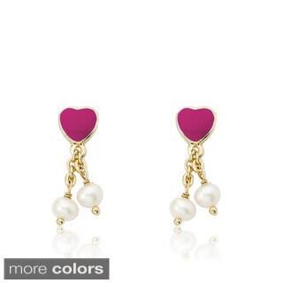 Little Miss Twin Stars 14k Goldplated Pearl Dangle I Love My Jewels Earrings