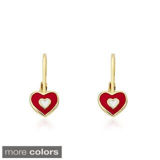Little Miss Twin Stars Goldplated Heart In Heart I Love My Jewels Leverback Earrings