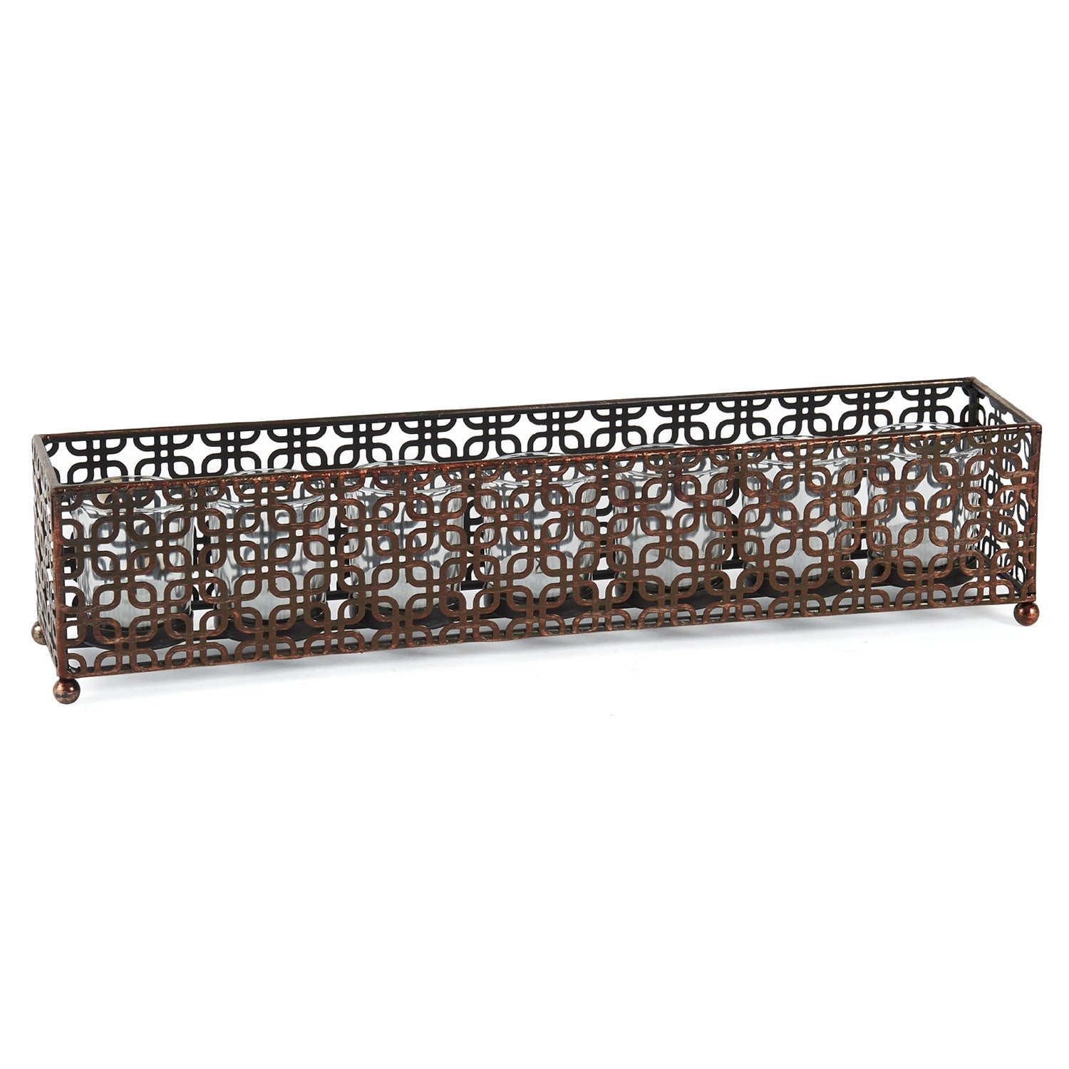 Element 7-light Brown Linear Metal Candle Holder (This El...