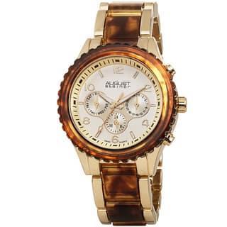 August Steiner Women's Swiss Quartz Multifunction Gold-Tone Bracelet Watch with FREE GIFT|https://ak1.ostkcdn.com/images/products/8915356/August-Steiner-Womens-Swiss-Quartz-Multifunction-Bracelet-Watch-P16132831.jpg?impolicy=medium