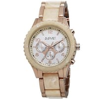 August Steiner Women's Swiss Quartz Multifunction Rose-Tone Bracelet Watch