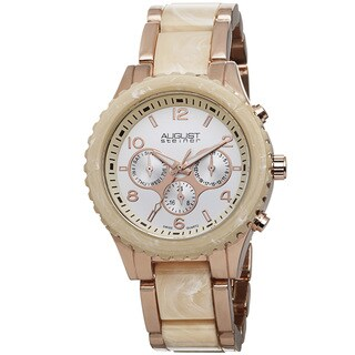 August Steiner Women's Swiss Quartz Multifunction Rose-Tone Bracelet Watch