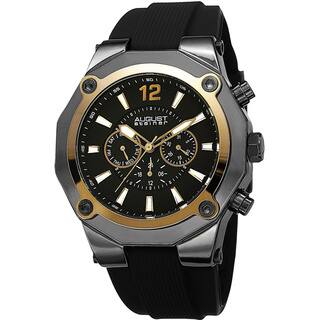 August Steiner Men's Swiss Quartz Multifunction Gold-Tone Strap Watch with FREE GIFT|https://ak1.ostkcdn.com/images/products/8915377/P16132850.jpg?impolicy=medium