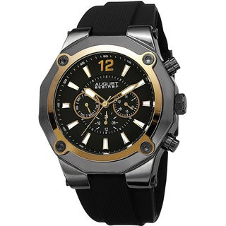 August Steiner Men's Swiss Quartz Multifunction Gold-Tone Strap Watch (Option: Gold)