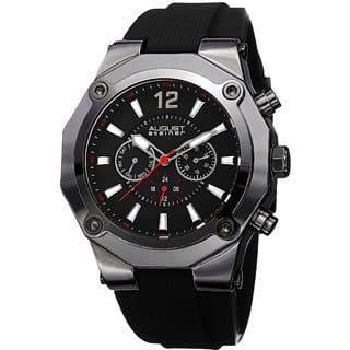 August Steiner Men's Swiss Quartz Multifunction Black Strap Watch with FREE GIFT|https://ak1.ostkcdn.com/images/products/8915378/P16132851.jpg?impolicy=medium