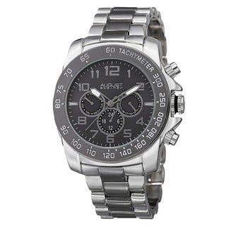 August Steiner Men's Swiss Quartz Multifunction Tachymeter Two-Tone Bracelet Watch