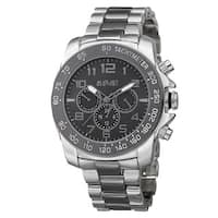 August Steiner Men's Swiss Quartz Multifunction Tachymeter Two-Tone Bracelet Watch
