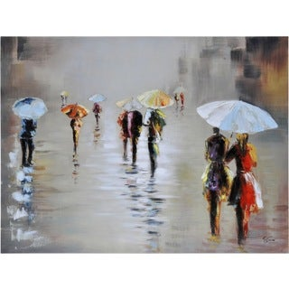 Ren Wil Giovanni Russo 'Rawhide Rain' Hand-painted Canvas Art