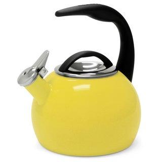 Chantal 40th Anniversary 2-quart Enamel on Steel Canary Yellow Tea Kettle