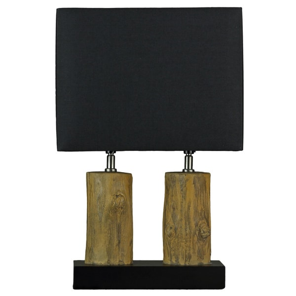 Cortesi Home Stump Table Lamp with Black Shade