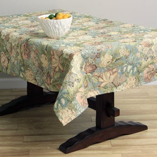 Corona Decor Floral Design 50x90-inch Italian Heavyweight Tablecloth