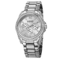 August Steiner Women's Crystal Quartz Multifunction Bracelet Watch