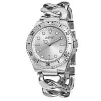 August Steiner Women's Swiss Quartz Chain Link Silver-Tone Bracelet Watch with FREE Bangle