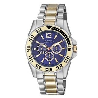 August Steiner Men's Quartz Multifunction Two-Tone Bracelet Watch