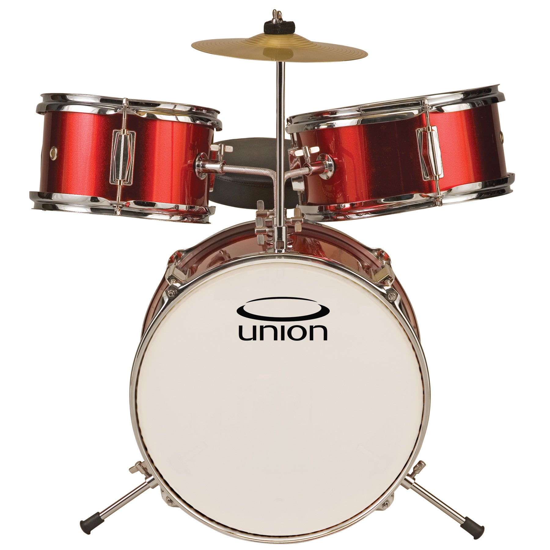 UNION UT3 3-piece Metallic Red Toy Drum Set (Red)