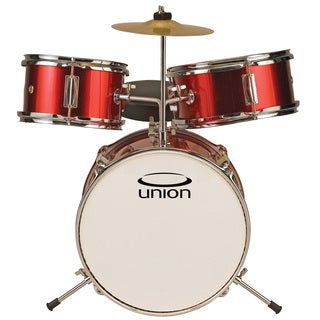 Union UT3 3-piece Metallic Red Toy Drum Set