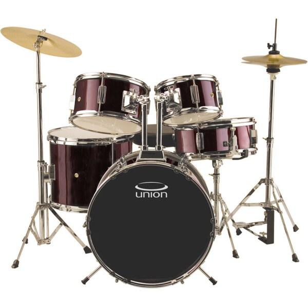 Union UJ5 5-piece Wine Red Junior Drum Set