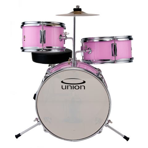 Union 3-piece Pink Toy Drum Set