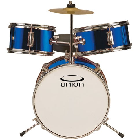 Union UT3 3-piece Metallic Blue Toy Drum Set