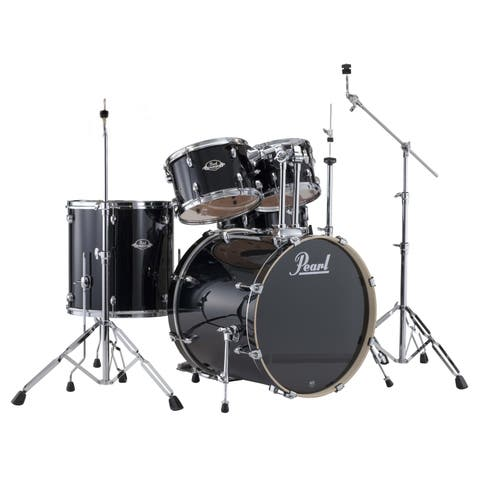 Pearl Export 5-piece Jet Black Drum Kit