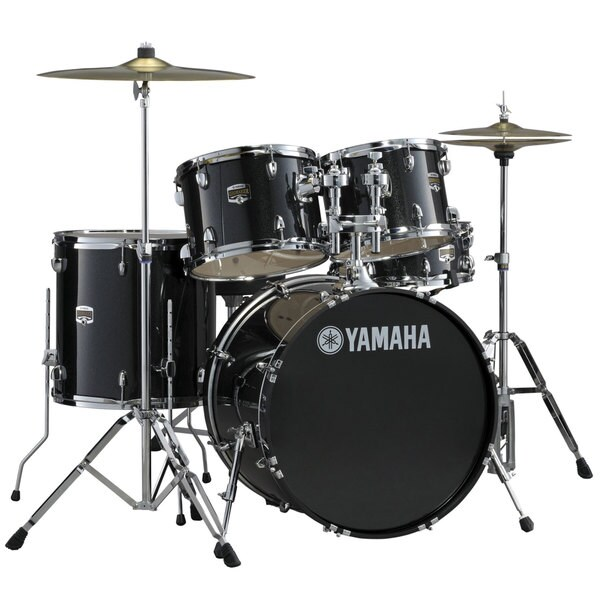 Yamaha 'Gigmaker' Standard 5-piece Black Glitter Drum Set