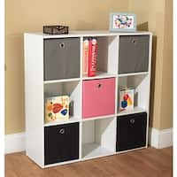 Simple Living 'Jolie' White Five Fabric Bin Bookcase
