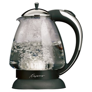 Capresso 25903 Polished Chrome 6-cup H2O Plus Water Kettle Safety Glass (Refurbished)