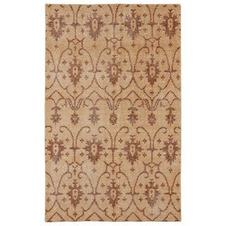 Hand-Knotted Vintage Replica Paprika Wool Rug (5'6 x 8'6)