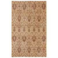 Hand-Knotted Vintage Replica Paprika Wool Rug - 5'6 x 8'6