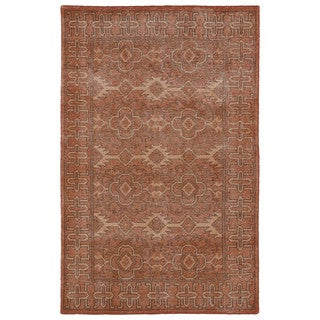 Hand-Knotted Vintage Replica Pumpkin Wool Rug (8' x 10')