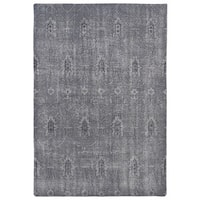 Hand-Knotted Vintage Replica Grey Wool Rug - 9' x 12'