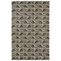 Hand-Knotted Vintage Replica Gold Wool Rug - 8' x 10'
