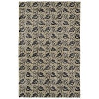 Hand-Knotted Vintage Replica Gold Wool Rug (9' x 12')