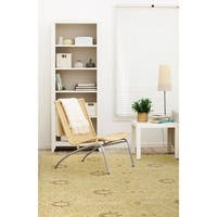 Hand-Knotted Vintage Replica Gold Wool Rug (4'0 x 6'0) - 4' x 6'