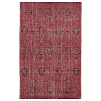 Hand-Knotted Vintage Replica Red Wool Rug - 8' x 10'