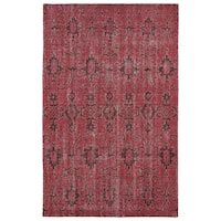 Hand-Knotted Vintage Replica Red Wool Rug (9'0 x 12'0) - 9' x 12'