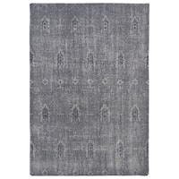 Hand-Knotted Vintage Replica Grey Wool Rug (4' x 6')